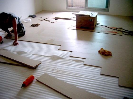 中和傅公馆直铺施工; 台北木地板施工